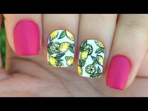 Lemon Nail Art Tutorial