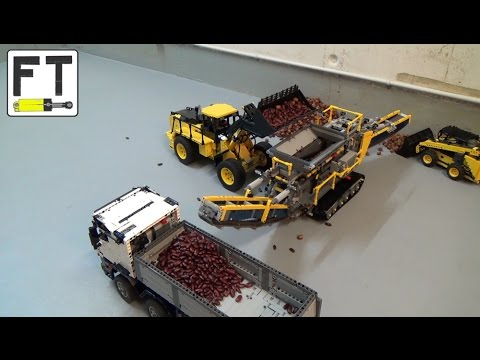 Lego Technic Construction Site Mocs In Action