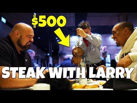 $500 STEAK DINNER WITH LARRY WHEELS | TALKING STRONGMAN