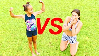 GYMNASTICS CHALLENGES VS A 9 YEAR OLD!