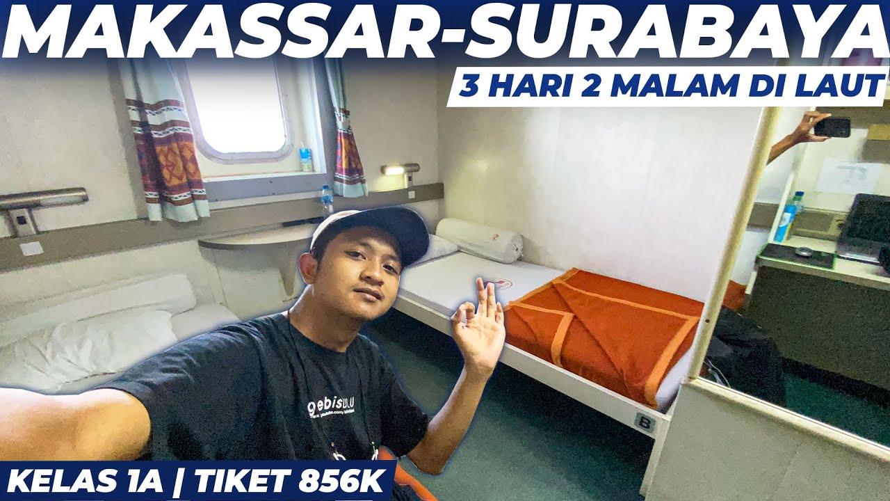 KAPAL SEPERTI HOTEL , PERJALANAN 3 HARI 2 MALAM   Trip Km Sinabung Makassar-Surabaya Kelas 1A