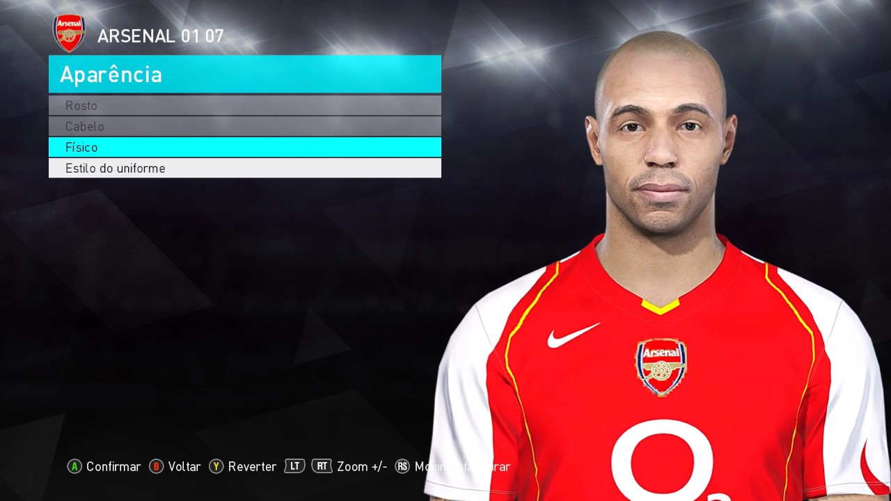PES 2018 - THIERRY HENRY FACE BY: EdwRic - PC