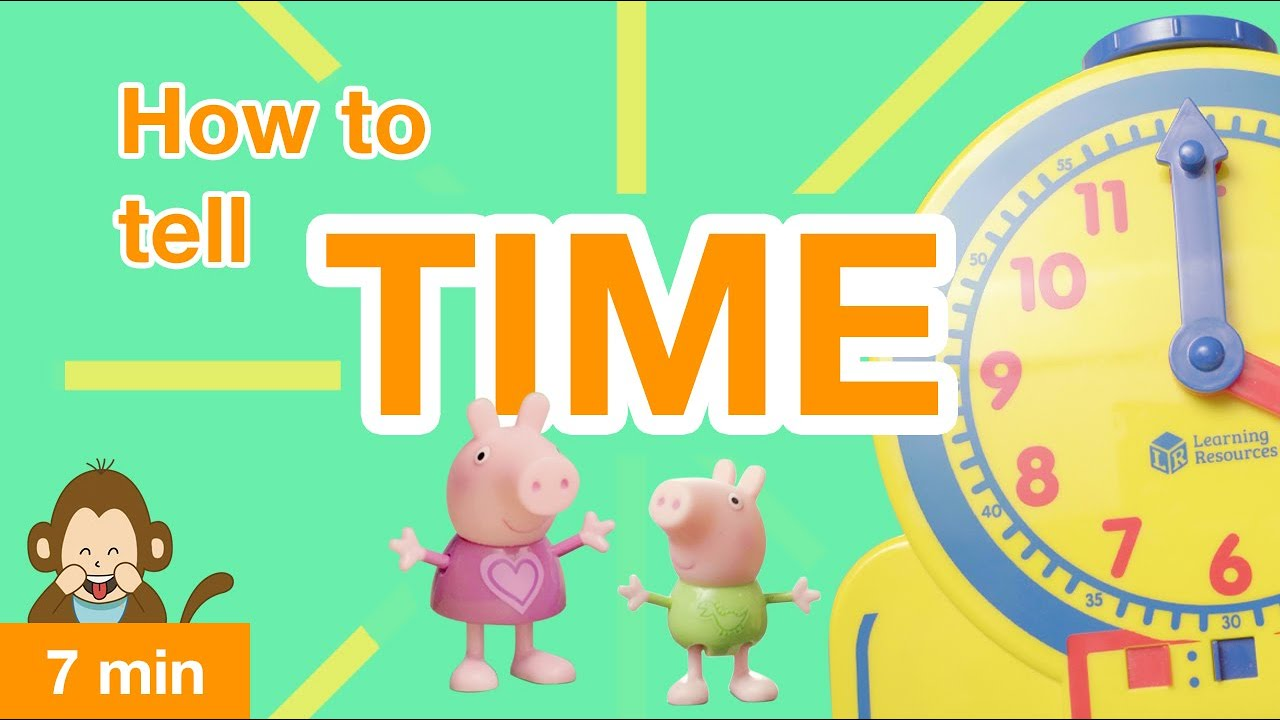 Learning videos for toddlers: how to tell time (2019) 4K