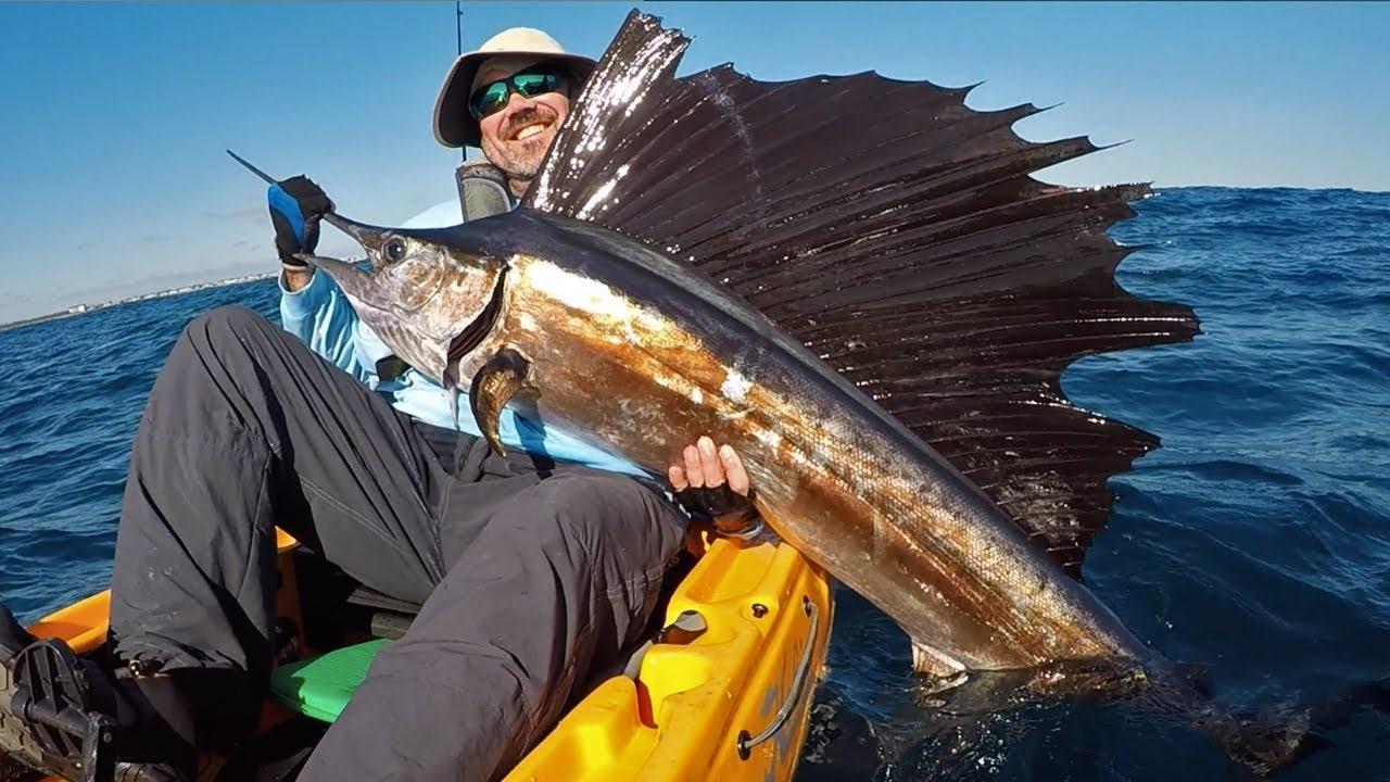 Deep Sea Kayak Fishing Delray Beach Florida Sailfish King Mackerel