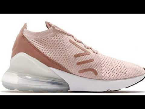 06913aef96719 NIKE Air Max 270 Flyknit Womens Guava Ice Particle Beige - YouTube