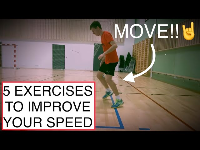 BADMINTON FOOTWORK #8 - 5 EXERCISES TO IMPROVE YOUR SPEED