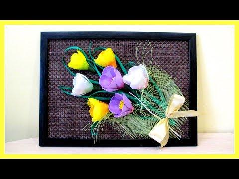 Картины из цветов своими руками фото из искусственных цветов