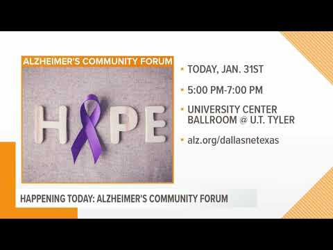 Alzheimer's Community Forum Happening This Evening at UT