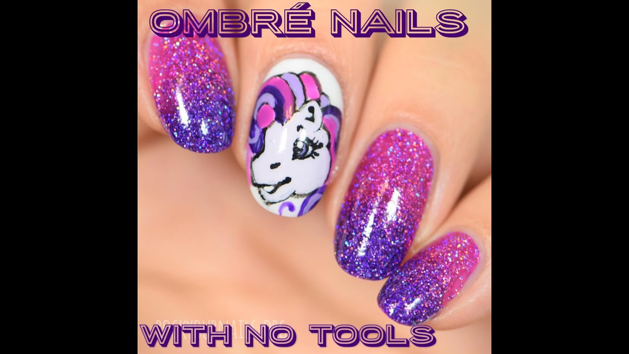 Ombre Nails Without Using Any Tools - YouTube