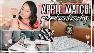 BEST APPLE WATCH APPS AND BANDS!   HOW TO BE PRODUCTIVE USING YOUR SMART WATCH!   Page Danielle