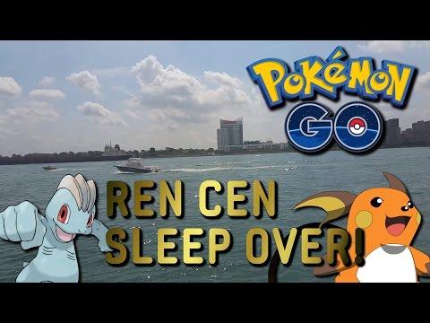 STAYED THE NIGHT AT THE REN CEN! GM RENAISSANCE CENTER DETROIT MICHIGAN! Pokemon GO! EP18