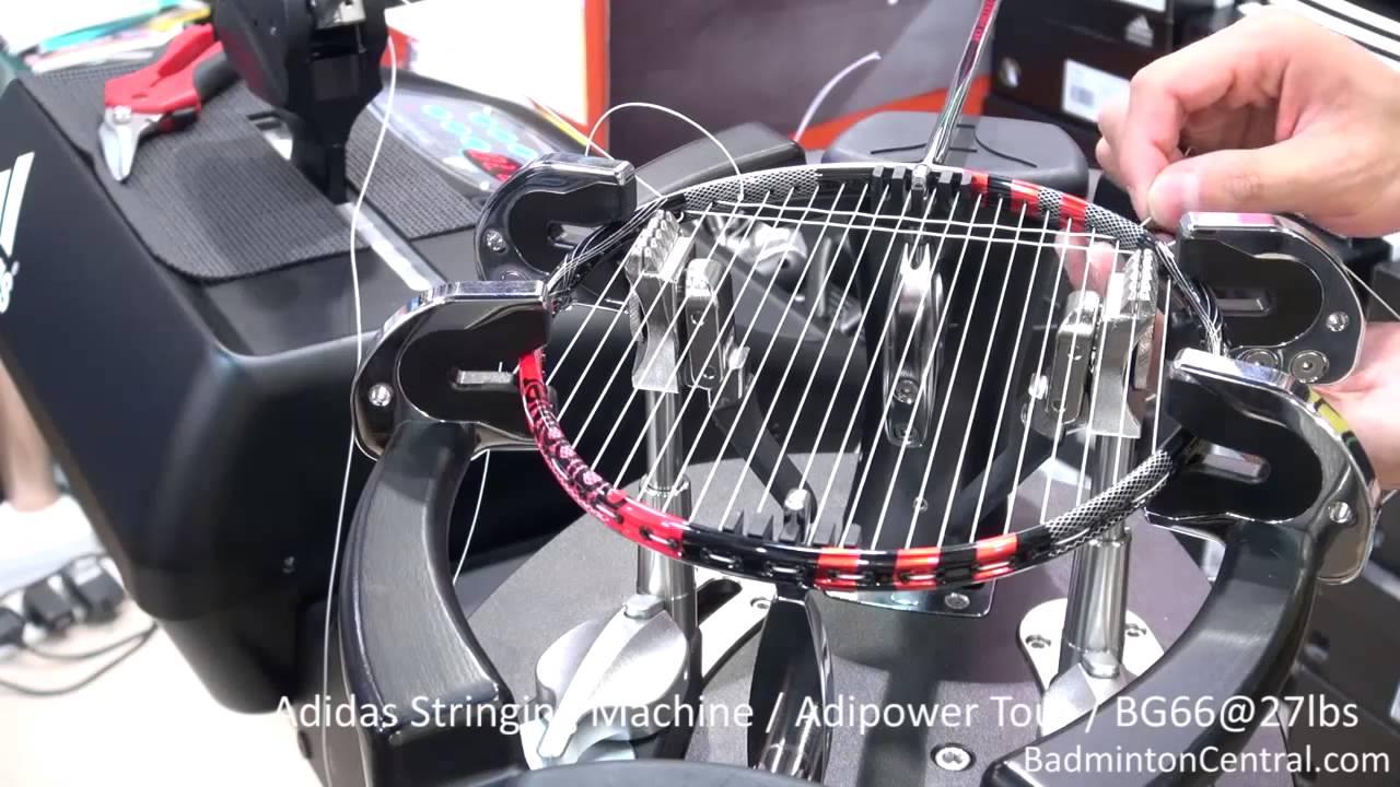 Adidas Stringing Machine Demonstration