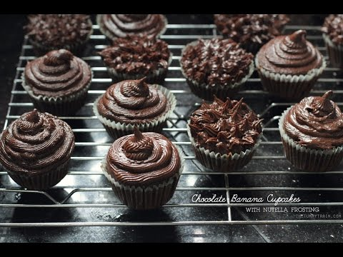 [RECIPE] ChocoBanana Cupcakes Recipe with Nutella Frosting