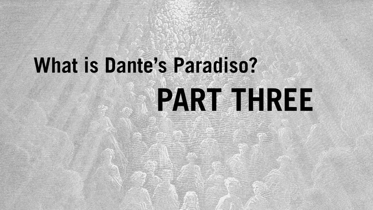 divine comedy paradiso summary
