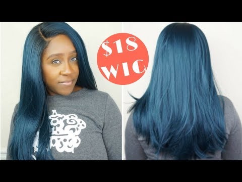 My $18 BLUE LACE FRONT WIG SLAY!! | HUMAN HAIR BLEND SYNTHETIC REGINA WIG | FT HERA REMY
