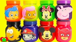 Bubble Guppies, Paw Patrol, Mickey, Peppa Surprises in Slime