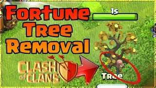 REMOVING FORTUNE TREE in Clash Of Clans | Firework Update Removal LUNAR NEW YEAR 2019 CoC Obstacle