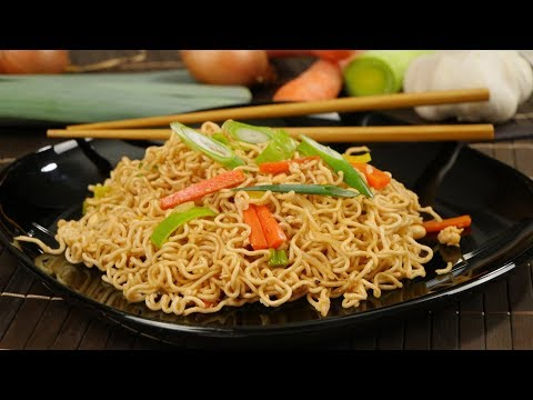 Chinesisch gebratene Nudeln / Gebratene Nudeln wie beim China Imbiss / Asia Nudeln