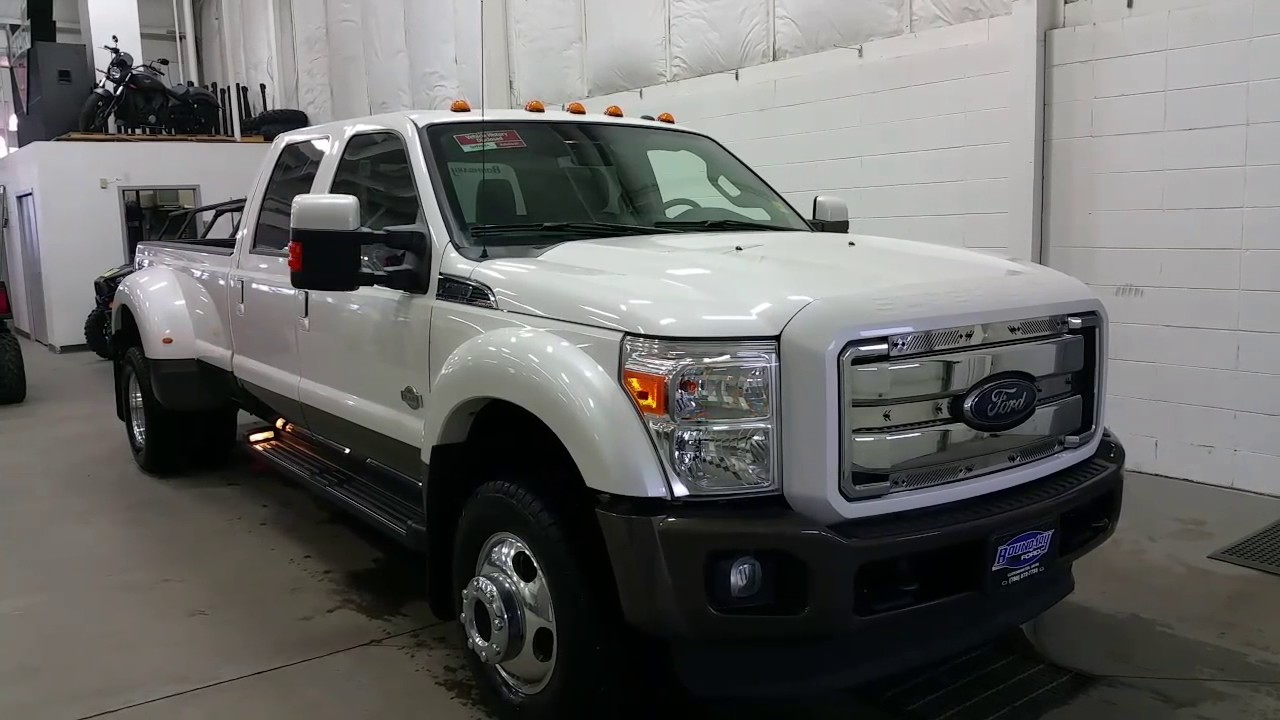 2016 Ford F 350 King Ranch W 6 7l Sel Engine Cab Lights Leather Review Boundary