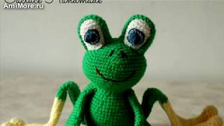 Амигуруми: схема Лягушки. Игрушки вязаные крючком. Free crochet patterns.