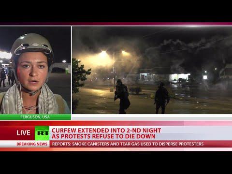 'Ferguson resembling war zone': More tear gas, cops in military gear, violence