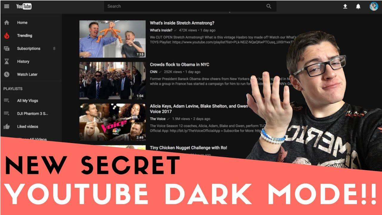 how to turn on dark mode on youtube