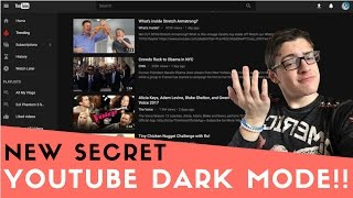 HOW TO ENABLE SECRET DARK MODE ON YOUTUBE!! [2017]