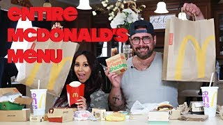 TRYING THE ENTIRE MCDONALDS MENU | SNOOKI AND JOEY