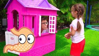 ناستيا وأرتيم وميا يلعبون بالحلويات قصص تعليمية للاطفال