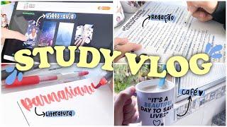 study vlog como estudar em dias de preguiça resumos redação ENEM e motivação nos estudos