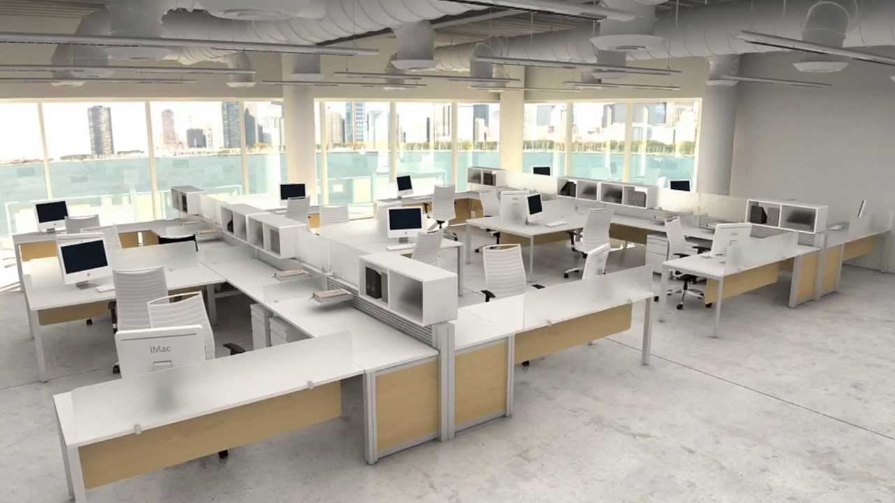 Modern Workstations Modular Office Furniture YouTube - Architecture office furniture