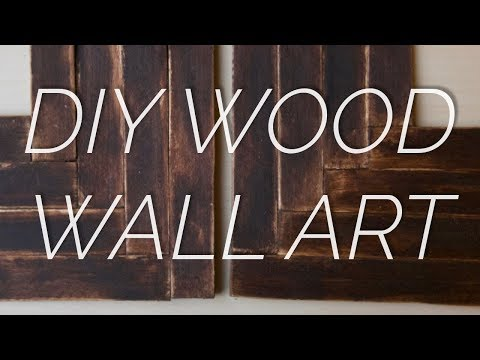 DIY Cheap Wood Wall Decor Tutorial