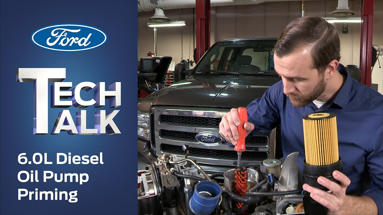 how to prime a ford 6 0l power stroke diesel oil pump ford tech talk [ 1280 x 720 Pixel ]