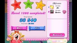 Candy Crush Saga Level 1206    ★★★   NO BOOSTER