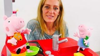 Peppa Wutz macht Pfannkuchen. Play Doh für Kinder
