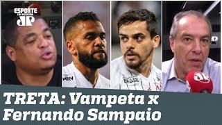 """""""Vamos ver no DOMINGO!"""" Vampeta se IRRITA e TRETA antes de São Paulo x Corinthians!"""
