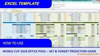 World Cup 2018 Office Pool #2 : Set and Forget Prediction Game