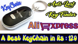 Anti-Lost LED Key Finder Keychain - Whistle Beep Sound