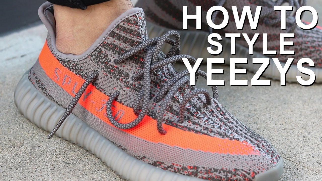 online store 45d54 bbff6 HOW TO WEAR YEEZYS   HOW TO STYLE YEEZY BOOST 350 s   Alex Costa - YouTube