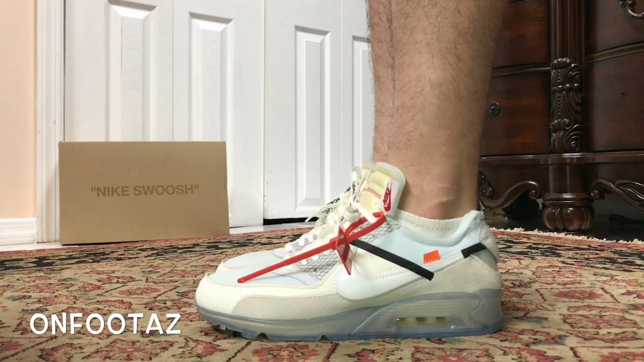 air max 90 off white on feet