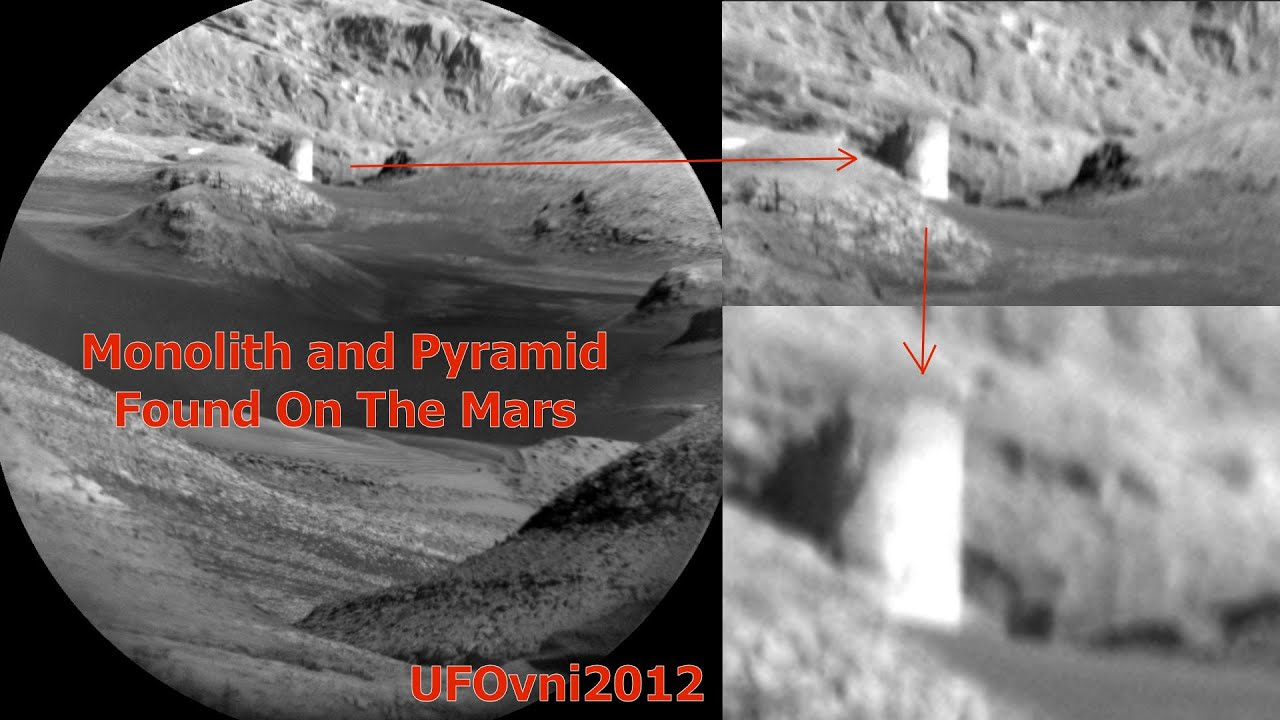 Monolith and Pyramid Found On The Mars, April 2016 - YouTube