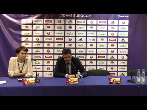 Press-conference Round 8 UNICS - Darussafaka Istanbul 13.12.2017