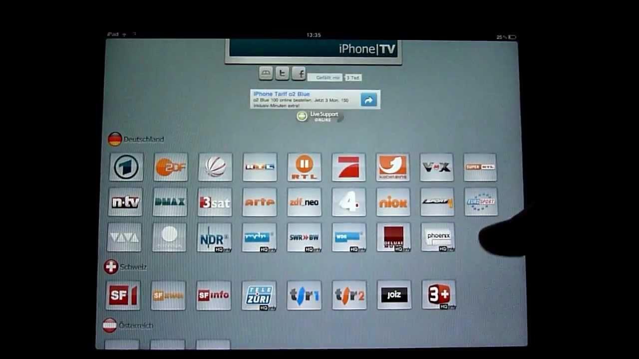 kostenlos fernsehen mit dem iphone ipod touch und ipad youtube