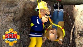 Trevor se retrouve coincé à l'envers !   Pompier Sam Officiel   Dessins animés pour enfants