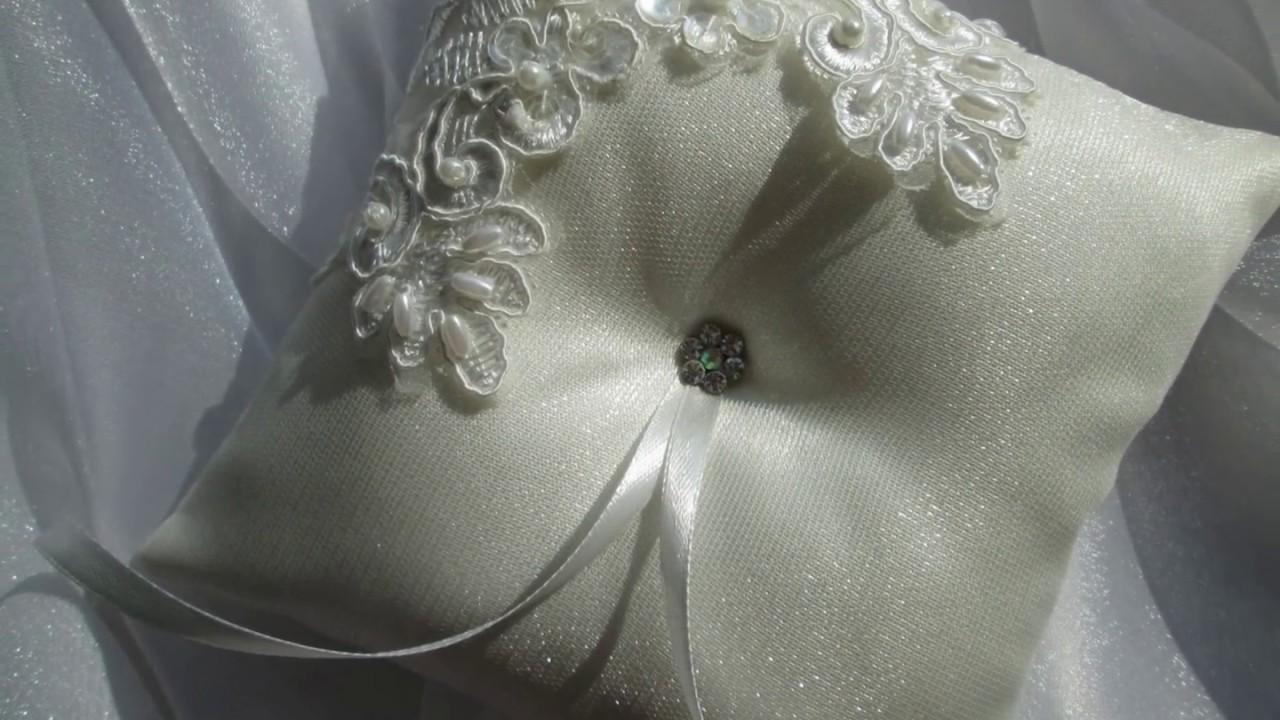Как сделать подушечку для колец на свадьбу своими руками пошагово фото фото 929