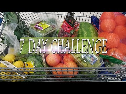 VLOG: 7 DAY FRUITS AND VEGETABLES CHALLENGE●SHOPPING HEALTHY