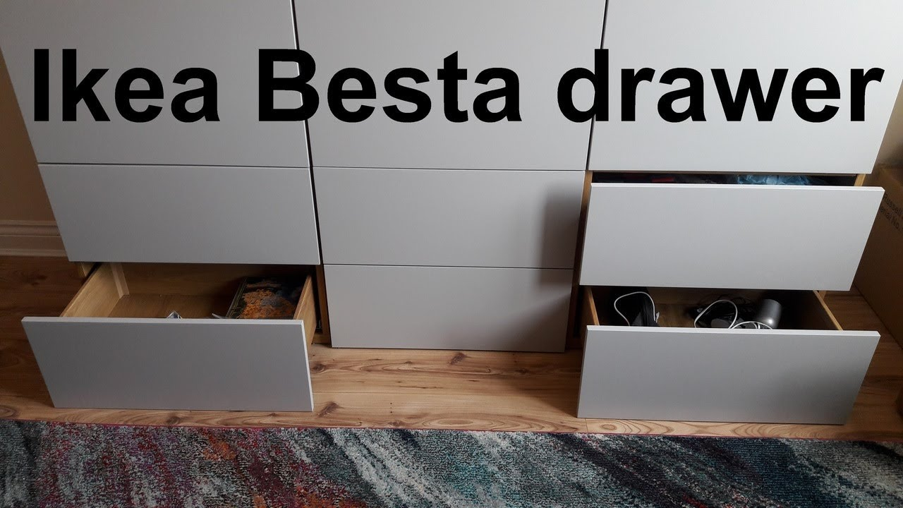 Ikea Besta Drawer Assembly Installation