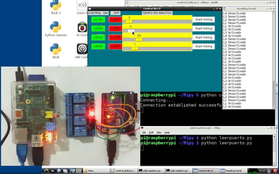 Programa en python raspberry pi arduino youtube