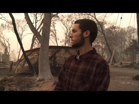 California fires: Man searches for relatives