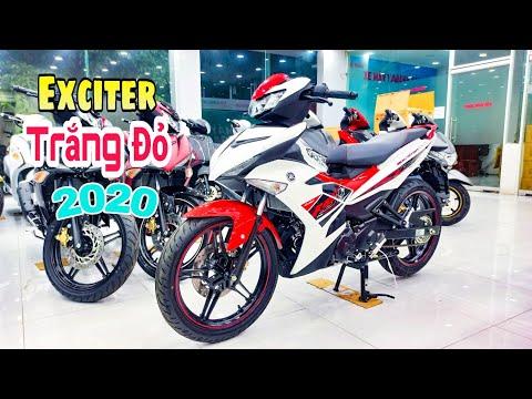 Xe Exciter 2020 Trắng Đỏ Mới Nhất   Hỗ Trợ Trả Góp   Yamaha Exciter 150 White Red   Quang Ya